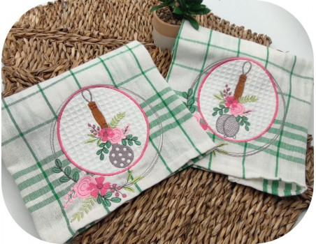 machine embroidery design shabby kitchen skimmer flowers