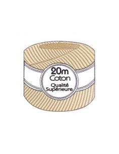 Motif de broderie fil coton