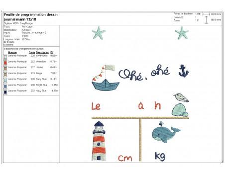 machine embroidery design customizable saylor prenancy diary