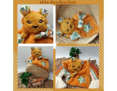 machine embroidery design lion head  ith
