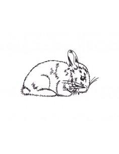 Motif de broderie lapin