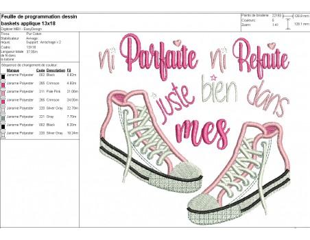 machine embroidery  design applique basket