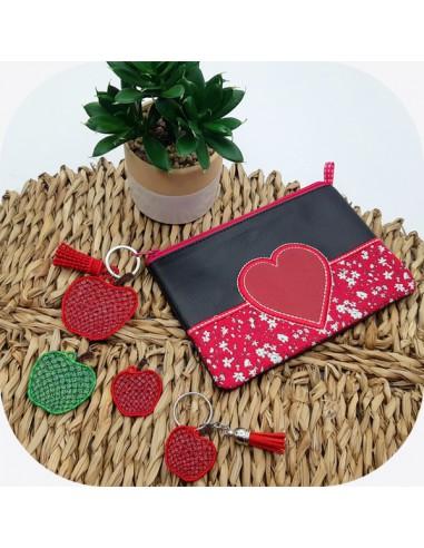 machine embroidery design FSL apple