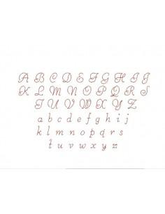 machine embroidery design  alphabet letter