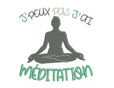 machine  embroidery design  i can not meditation