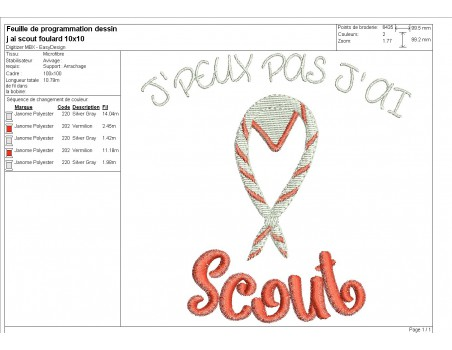 machine  embroidery design  i can not scout