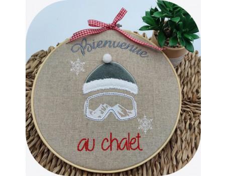 machine embroidery design  machine Ski cap