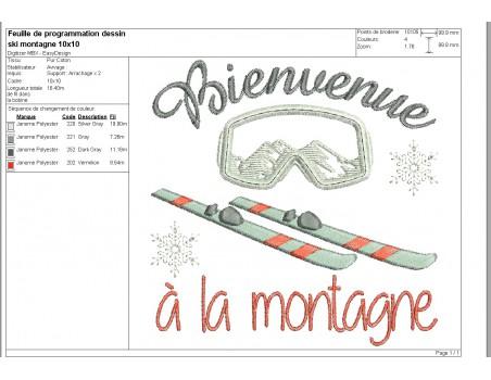 machine embroidery design  machine Ski and mask