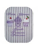 machine embroidery design  little cake