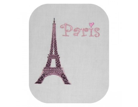 embroidery design eiffel tower Paris