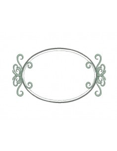 machine embroidery design  applique oval frame valentine 3 sizes