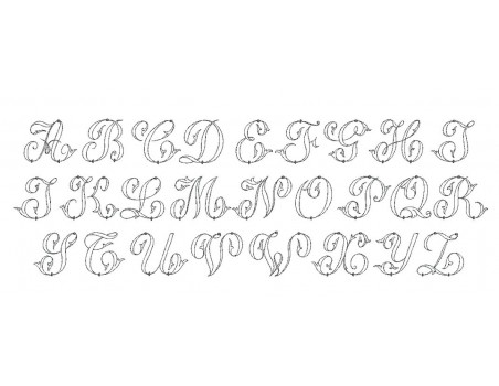 "Instant download Monogram Font Machine Embroidery Designs 4""x4"""