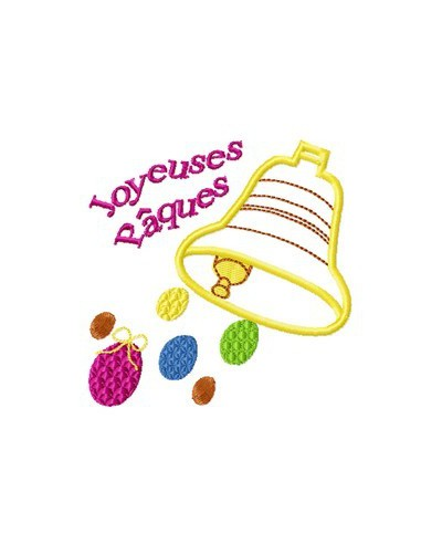 Instant download machine embroidery  easter bell