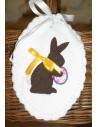 Instant download machine embroidery  applique easter bunny