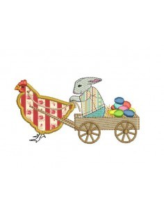 Instant download machine embroidery  applique  easter