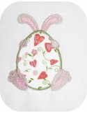 Instant download machine embroidery  applique bunny egg easter
