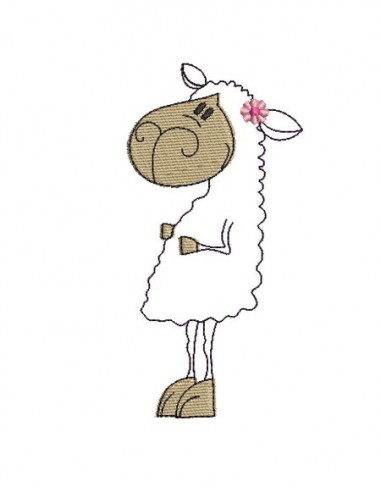 Instant download machine embroidery sheep