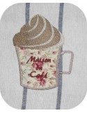 Instant download machine embroidery  cappuccino