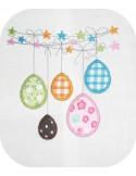 Motif de broderie oeufs de Pâques