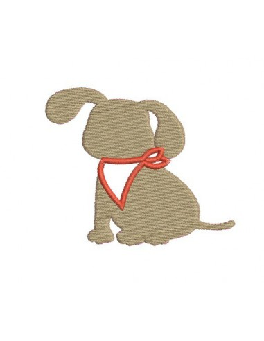 Instant download machine embroidery little  dog