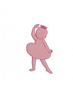Motif de broderie machine silhouette Petite fille  danseuse