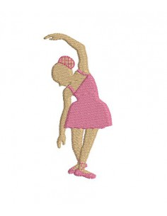 embroidery design silhouette  ballerina girl
