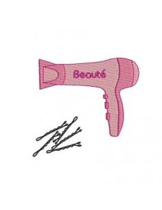 Instant download machine embroidery  hairdryer