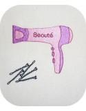 Motif de broderie machine sèche cheveux