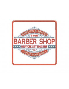 Instant download machine embroidery  Barber shop hairdresser man