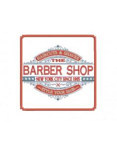 Motif de broderie machine Barber shop coiffeur homme