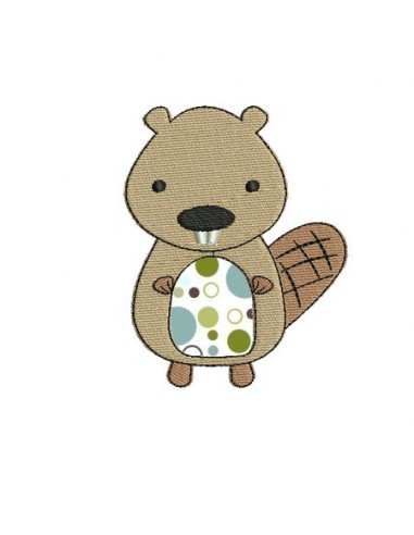 Instant download machine embroidery  applique  beaver