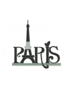 Instant download machine embroidery Paris  Eiffel Tower rhinestone