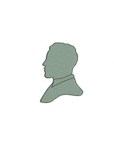 Instant download machine embroidery cameo retro man