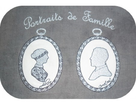 Instant download machine embroidery cameo retro woman