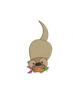 Instant download machine embroidery  otter