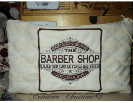 Instant download machine embroidery  Barber shop hairdresser man