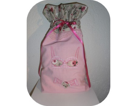 Instant download machine embroidery  applique lingerie set
