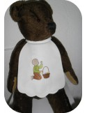 Instant download machine embroidery  silhouette little boy easter