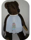 Instant download machine embroidery  rabbit boy