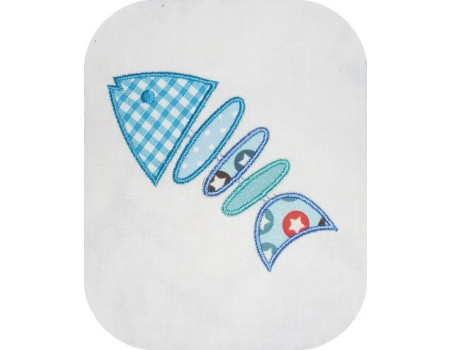 embroidery design machine  applied to fish