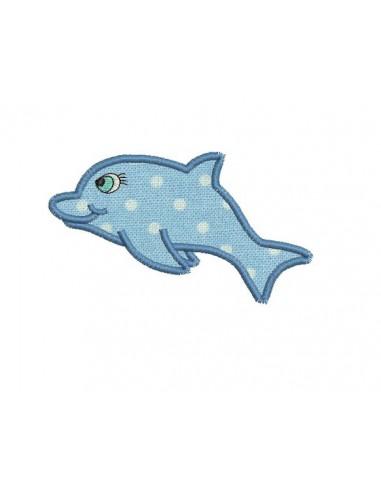 Motif de broderie machine dauphin