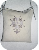 Instant download machine embroidery Huguenot cross