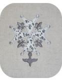Motif de broderie  appliqué croix huguenote