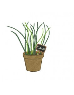 Instant download machine embroidery chive