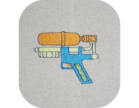 Instant download machine embroidery water gun
