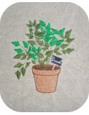 Instant download machine embroidery  parsley