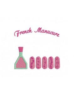Motif de broderie machine french manucure