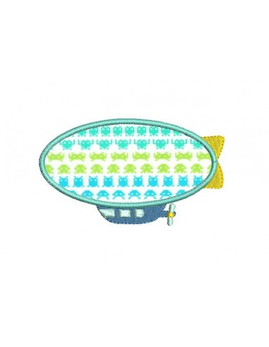 Instant download machine embroidery airship
