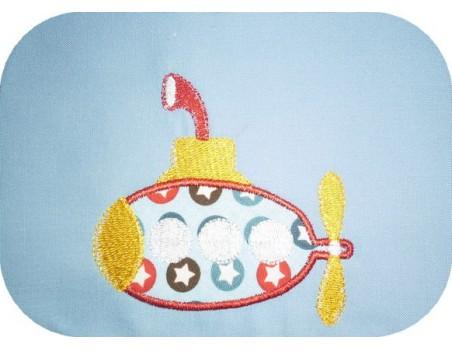 Motif de broderie machine sous marin