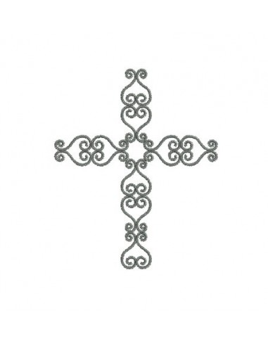 Motif de broderie machine croix